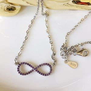 Sterling silver amethyst infinity necklace